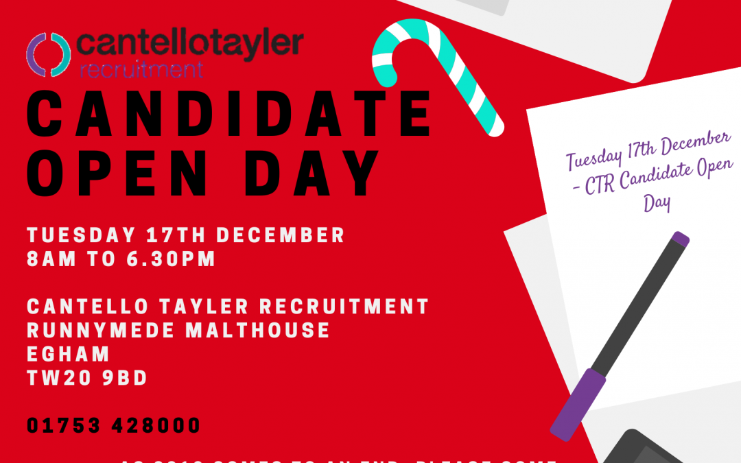 Christmas candidate open day, 17th December